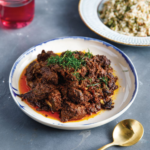 Wagyu Beef Rendang Tok With Brown Herbs Rice